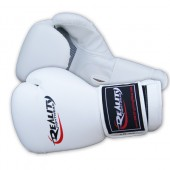 White Reality Boxing Gloves
