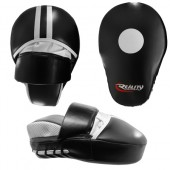 Black and White Reality Training Mitt with Wrist Guard