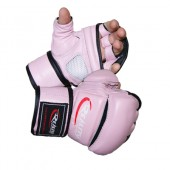 Pink and white Reality Training Bag Glove