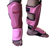 Pink Reality Slip On Shin Guards