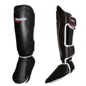 White and Black Reality Shin Guards